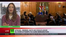 Off EU go! Merkel says UK could exit Union over immigration policy