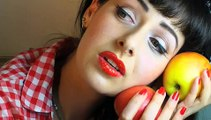 ROCKABILLY VALENTINES DAY MAKEUP TUTORIAL TRAILER: PIN UP GIRL 50's LOOK, BETTY PAGE, KATY PERRY