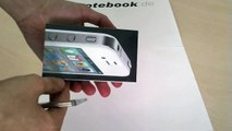 original Apple iPhone 4 weiß (weiss/ white) Unboxing Deutsch / German von notebook.de.wmv