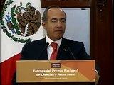 Ceremonia de Entrega del Premio Nacional de Ciencias y Artes 2010 - Presidente Calderón