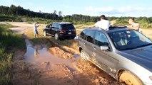 VW Touareg off road, Acura MDX Off Road, BMW x5 Off Road, x5 vs touareg, бездорожие