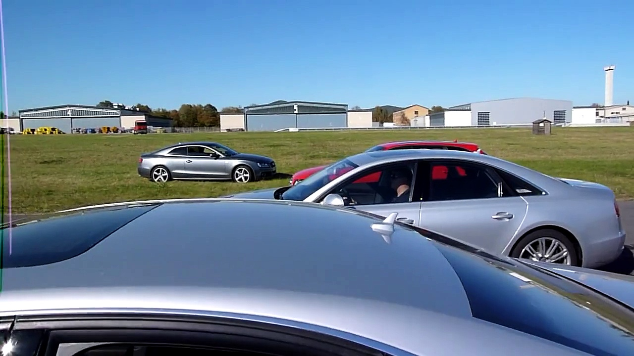 Audi driving experience Audi A8   Slalom Parcours