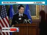 Rachel Maddow Exposes Wisconsin Governor Scott Walker On Illegalities in Milwaukee
