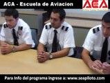 ACA - Escuela de aviacion: Entrevista a los estudiantes sobre su experiencia en la escuela