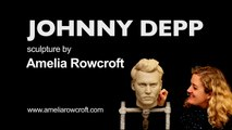 How to sculpt a realistic portrait bust in clay: Johnny Depp Sculpture (Timelapse) - Amelia Rowcroft