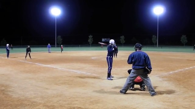 Andrea Grant High School Class of 2015 Softball Prospect delayed steal of home, sprained ankle