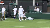 Bastian Schweinsteiger playing tennis with Ana Ivanovic - Wimbledon 2015