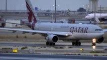 Amazing Rainy Qatar Airways Airbus A330-200 takeoff at Doha HD720p