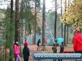 Crazy Guy Cutting  Tree Very Funny