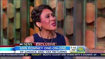 """Ann Romney Imperiously Tells Robin Roberts: """"We've Given All [You ?] People Need To Know ..."""""""