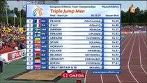 28 et 29. ChE athlé par équipes 2015, J2, triple saut H et 1500m F