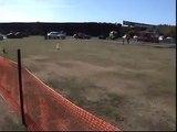 Holden 202 Huge Burnout vs EVO IX in a drag race Torana wins