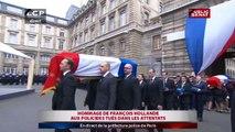 François Hollande rend hommage aux policiers tués dans les attentats - Evénements