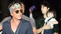 SRK's Son Aryan Khan Holding His Brother AbRam
