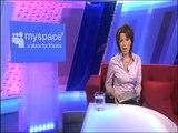 Natasha Kaplinsky promotes Five News on Myspace