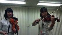【大宮バイオリン教室】耳をすませば『カントリーロード』 バイオリンデュオ演奏
