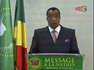MESSAGE A LA NATION DU PRESIDENT DE LA REPUBLIQUE