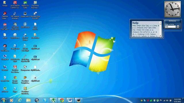Dictionary - 1 of Best 5 Desktop Gadgets for Windows 7