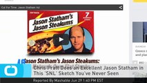 Chris Pratt Does an Excellent Jason Statham in This 'SNL' Sketch You've Never Seen