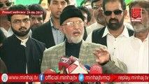 Dr. Tahir-ul-Qadri's Press Conference - 29th JUNE 2015