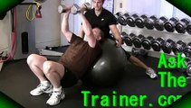 Incline Chest Flies on Stability Ball Swiss Dumbbell Pec Fly