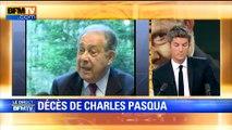 """Décès de Charles Pasqua: """"Il avait le souci de l'intérêt général"""", selon Jean Tiberi"""