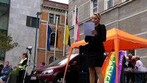 Aufrüttelnde Rede von Lea Giulietta Frings