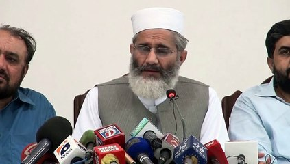 Ameer Jamaat e Islami Siraj ul Haq Press Conference About Karachi Situation - 29 June 2015