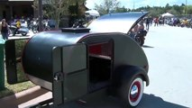 SMALL LIGHTWEIGHT CAMPER TRAILER SPECIAL MADE TO PULL BEHIND A MOTORCYCLE