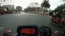 FZ1 vs R1, FZ6 & Suzuki on street race