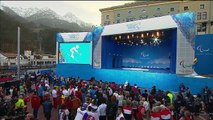 Men's super-G standing Victory Ceremony | Alpine Skiing | Sochi 2014 Paralympic Winter Games
