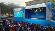 Men's super-G sitting Victory Ceremony | Alpine Skiing | Sochi 2014 Paralympic Winter Games
