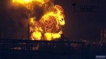 爆発 炎上する石油コンビナート[震災当日]
