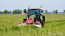Fendt Farmer 412 Vario with Lely 240 FC and 280 FC, Mowing grass | Gras maaien | Flevoland | Holland
