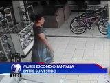 Mujer que robó pantalla metiéndola entre sus piernas cometió dos hurtos más ese día