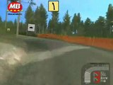 Finnish rally driver playing rally game