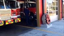 ATLANTA FIRE & RESCUE TRUCK 1, BATTALION 4 & BATTALION 6 RESPONDING TO FIRE CALL IN ATLANTA.