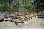Perry Lakes Park Covered Bridge Construction