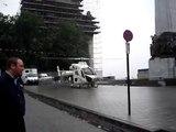 décollage hélico police à Bruxelles
