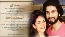 Shahid Kapoor-Mira Rajput's Official Wedding Invitation LEAKED