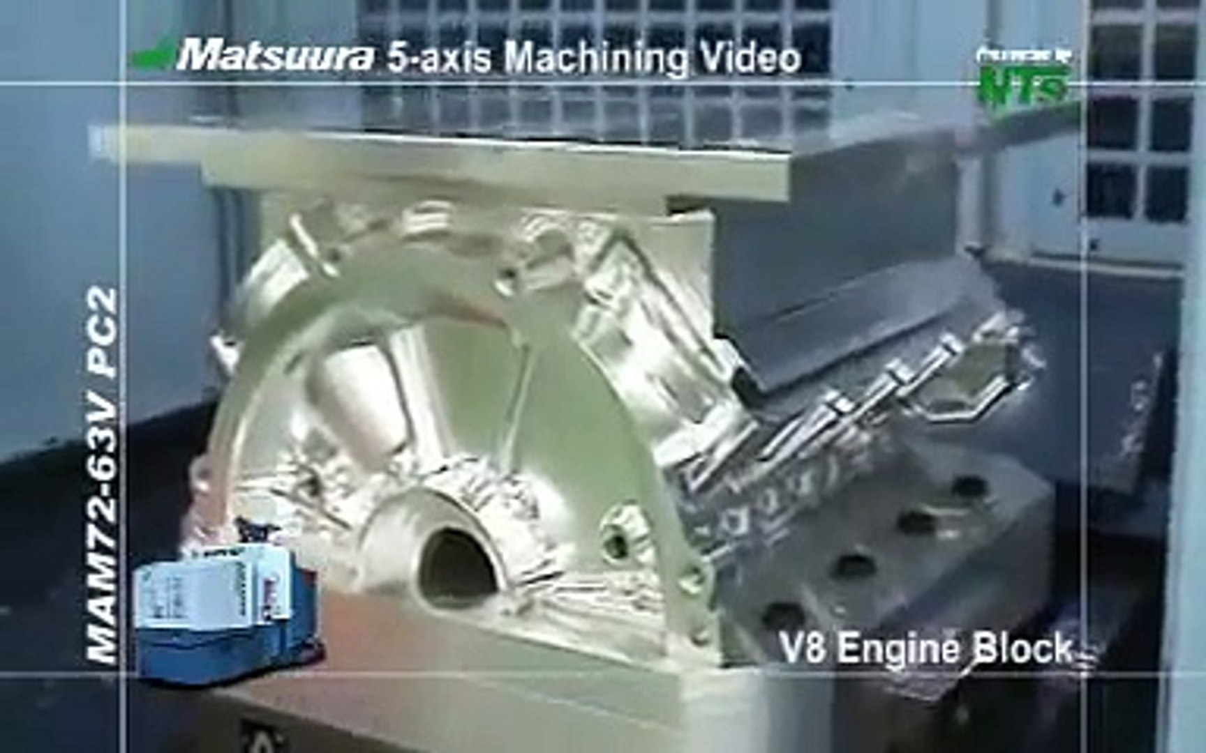 Matsuura Maxia: V8 Engine Block Machined From Solid