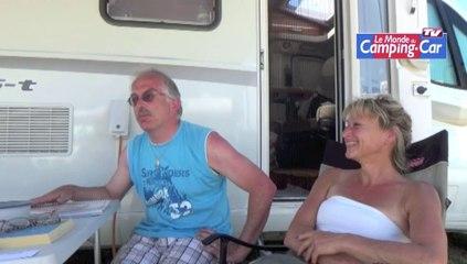 """Sonja et Jimmy (Luxembourg) : """"Les camping-caristes français sont sympas!"""""""