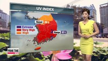 Hot and humid, very high uv levels across the nation