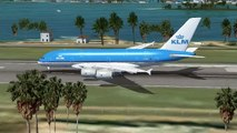 FSX KLM Airbus A380 - 900 Take Off Exhibition Video - video