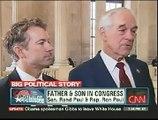Senator Rand Paul and Congressman Ron Paul on CNN with John King 1-5-11