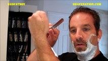 HOW TO STRAIGHT RAZOR SHAVE & TRIM BEARD MUSTACHE GOATEE SHAVING TUTORIAL Geofatboy ShaveNation.com