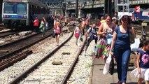 """""""C'est un bordel pas possible !"""" : chaleur torride et trains en retard dans les gares parisiennes"""
