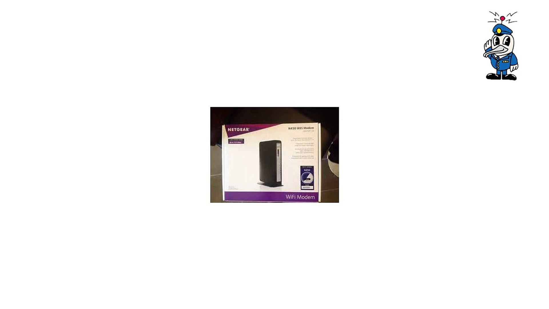 N450-100NAS Netgear N450 WiFi DOCSIS 3.0 Cable Modem Router