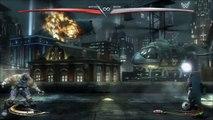 Injustice - Bane (luchador costume) grabs Batman - Gyaku Ryona Male on male (gay oriented)