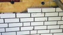 :-) Ich beim Mauern-Klinkern einer Großen Weißen Villa,Mason, Construction site, Bricklayer